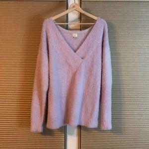 Lavander angora-like sweater